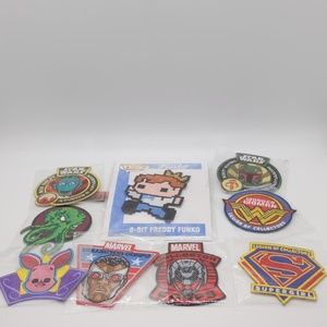 Lot of 9 assorted Iron-on patches